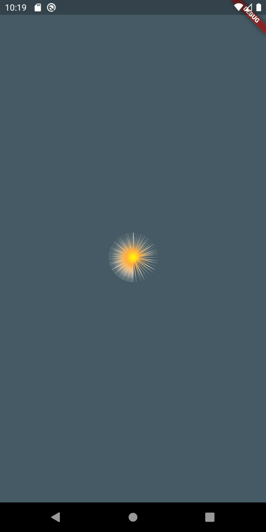 Flutter sparkler first iteration