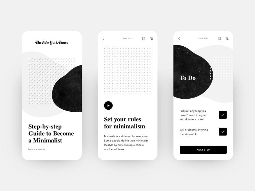 Minimalism UI/UX Design