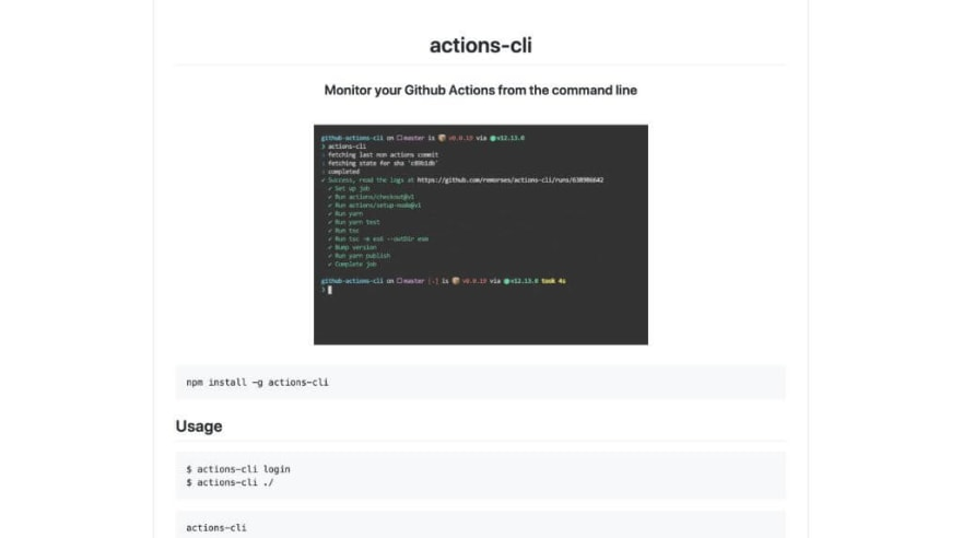 actions-cli