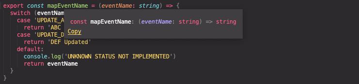 Function intellisense without return type