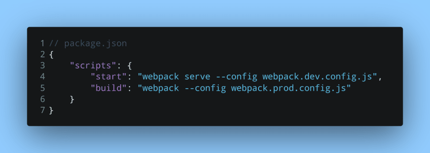 Build and run scripts that use both Webpack config files