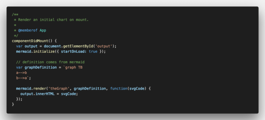 3. Add in the componentDidMount lifecycle method