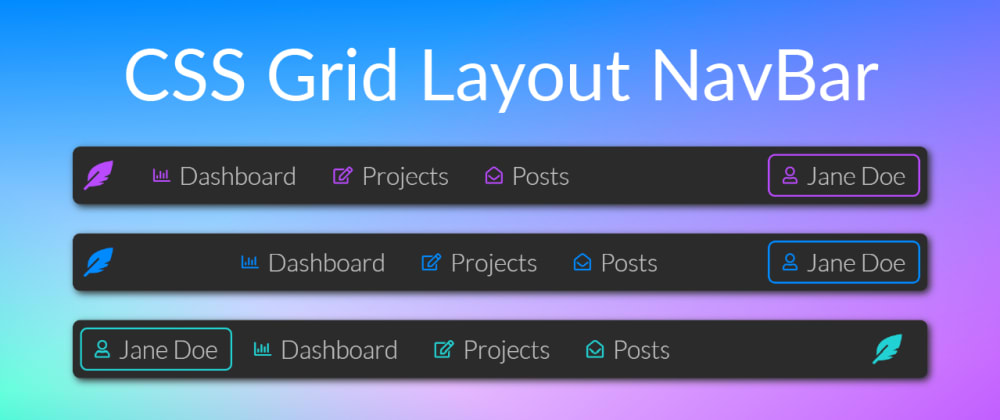 Cover image for 3 Ways to create a Navbar (CSS Grid Layout)