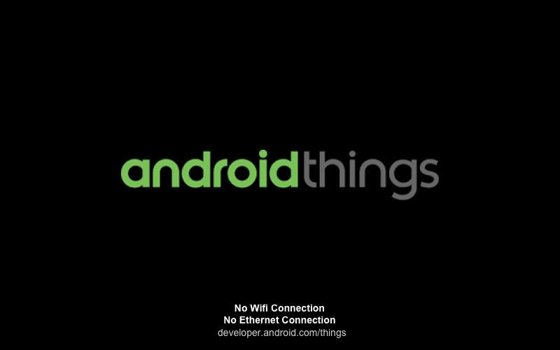 Android Things first boot
