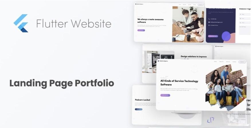 Flutter Landing Page website