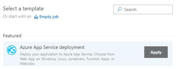 Azure App Service deployment