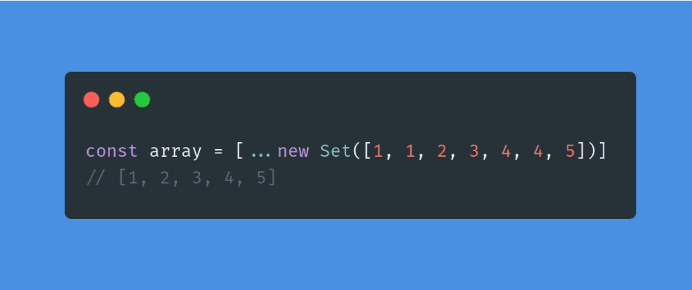Cover image for Removing repetitions from Array using the class Set