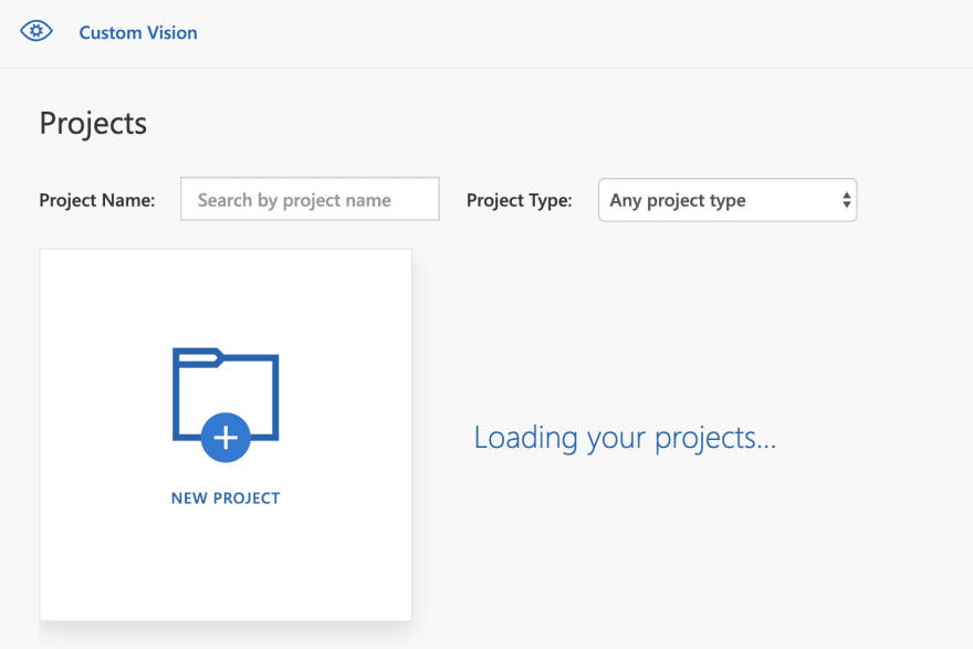 Custom Vision projects