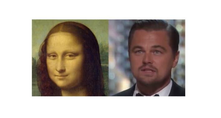 Mona Lisa and DiCaprio