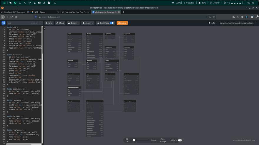 DBDiagram.io screenshot
