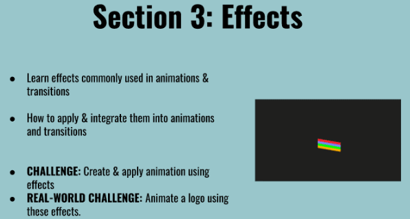 Overview of effects section