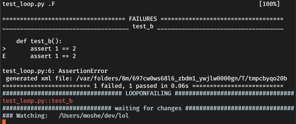 Cover image for Loop on fail - Small Pytest Trick to Boost Your Productivity