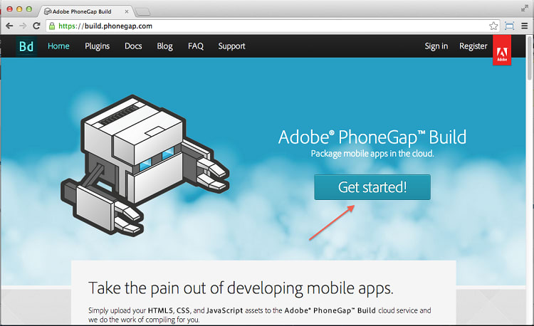 cloud computing with phonegap
