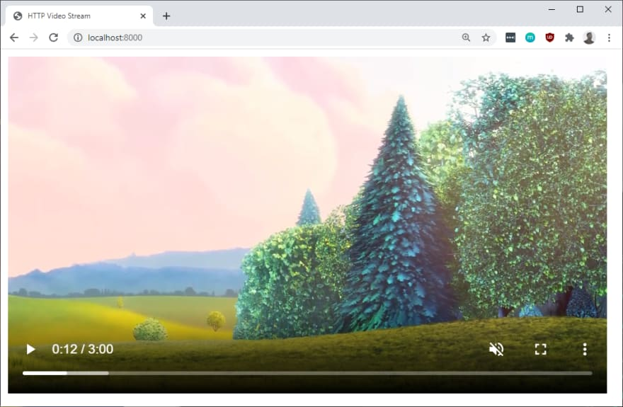 Video player with buffering timeline