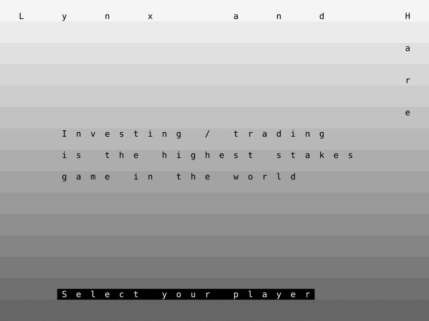 Type on a matrix, gray