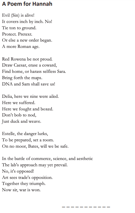 Puzzle seven is a poem with several stanzas. The words and rhythm are weird.