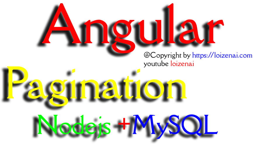 Angular Client Side Pagination with Nodejs + MySQL