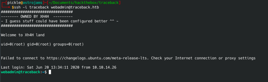 Hack The Box write up for Traceback