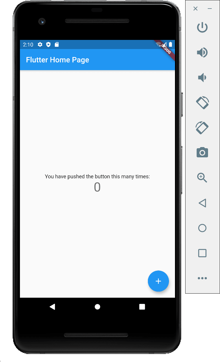 Android test app