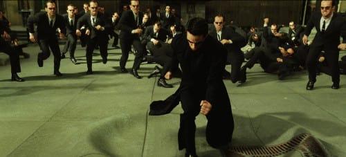 Neo vs many agent Smiths