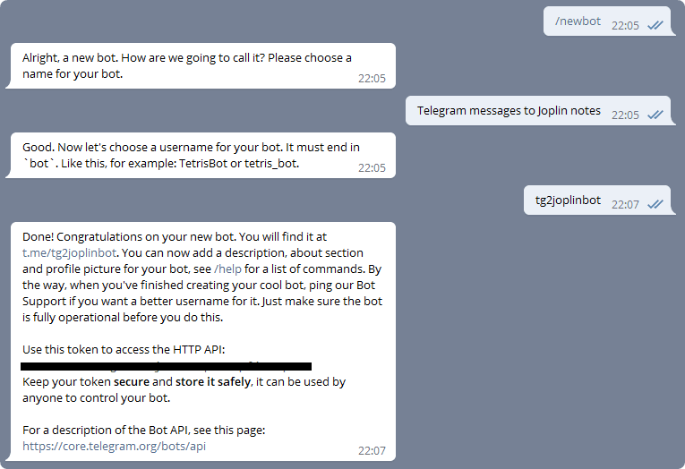 creating bot conversation