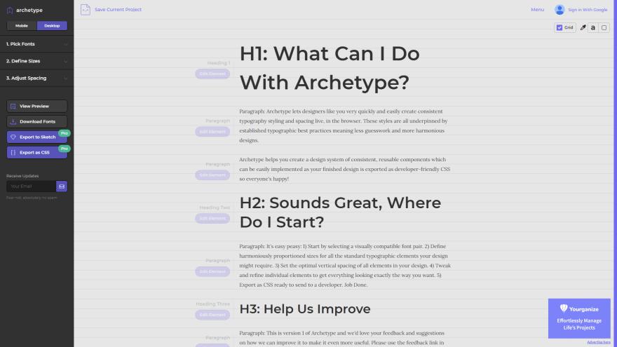 Archetypeapp