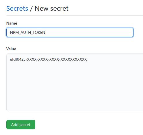 Adding a new secret