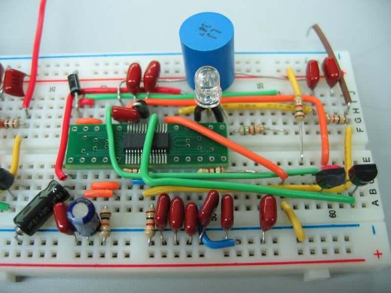 A circuit breadboard
