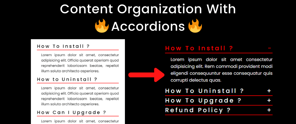 Cover image for Content Organization with Animated FAQ Accordion in 2021 !🔥   CSS JS