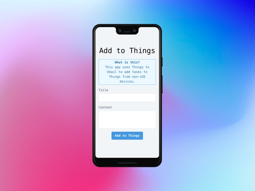 How to add tasks to Things from Android