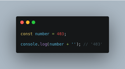 Convert a number to string