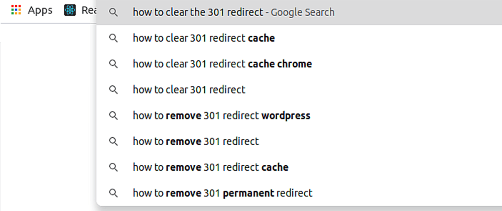 Cover image for Clear the 301/302 redirection cache (Chrome)