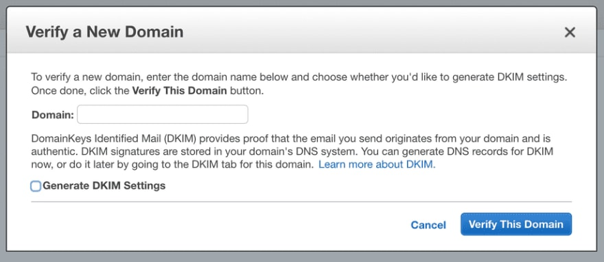 Verify New Domain