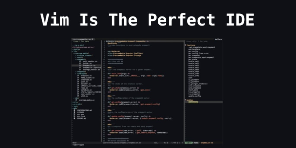 Vim Is The Perfect IDE - DEV Community 👩 💻👨 💻