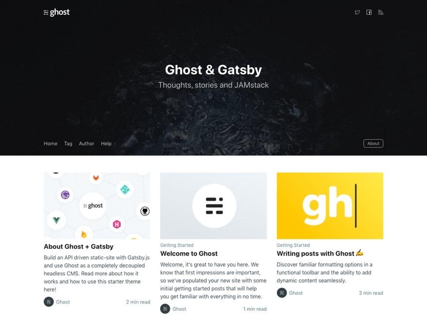 Gatsby Starter Ghost