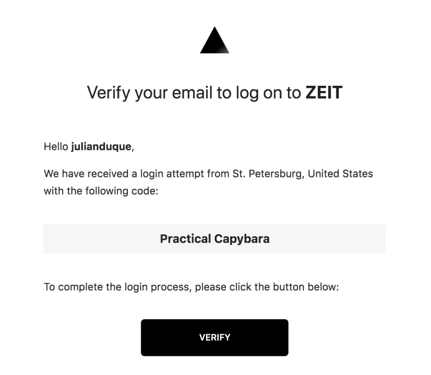 Verifying Email