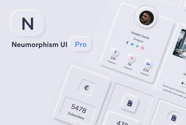 Neumorphism UI Pro Bootstrap Template