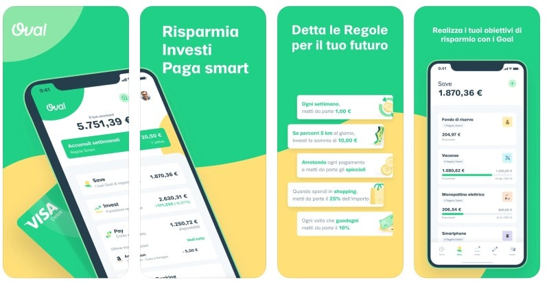 React Native apps: Oval app screenshots