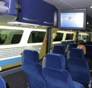 Disney's Magical Express motorcoach interior