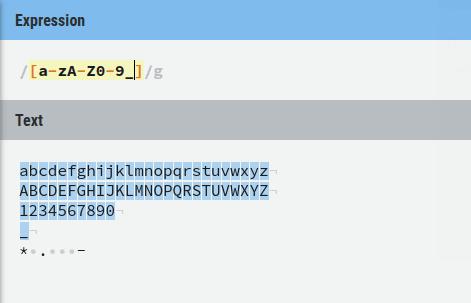 Expresión equivalente al metacaracter **\w** (**Fig-09**)