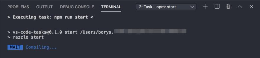 VS Code Task Run