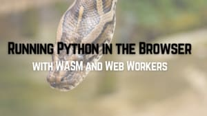 Running Python in the Browser with WASM and Web Workers