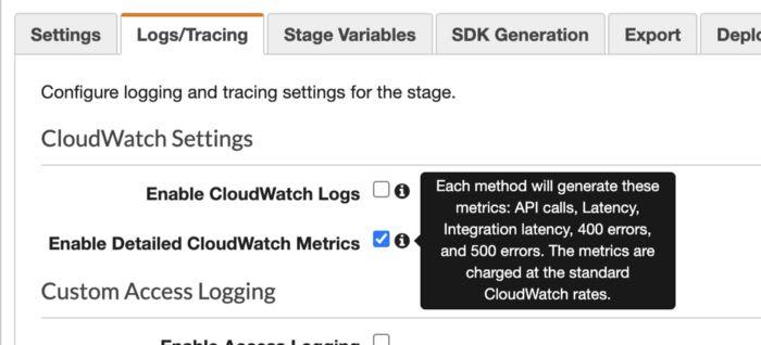 alertas api gateway cloudwatch