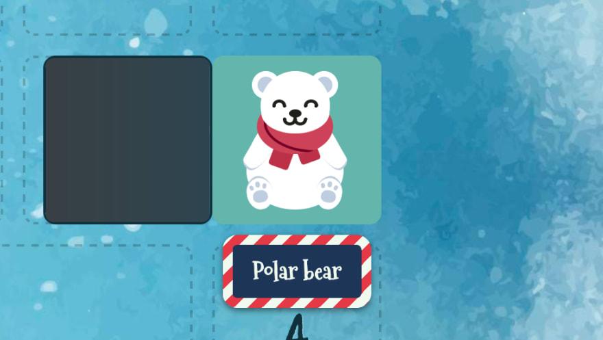 Title of a CSS polar bear