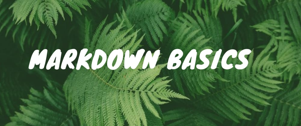 Cover image for Markdown Basics