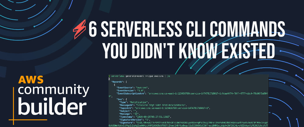 Cover image for ⚡️ 6 Serverless CLI Commands You Didn't Know Existed