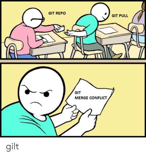 git merge conflict comic