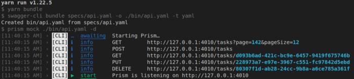 Prism Console Output