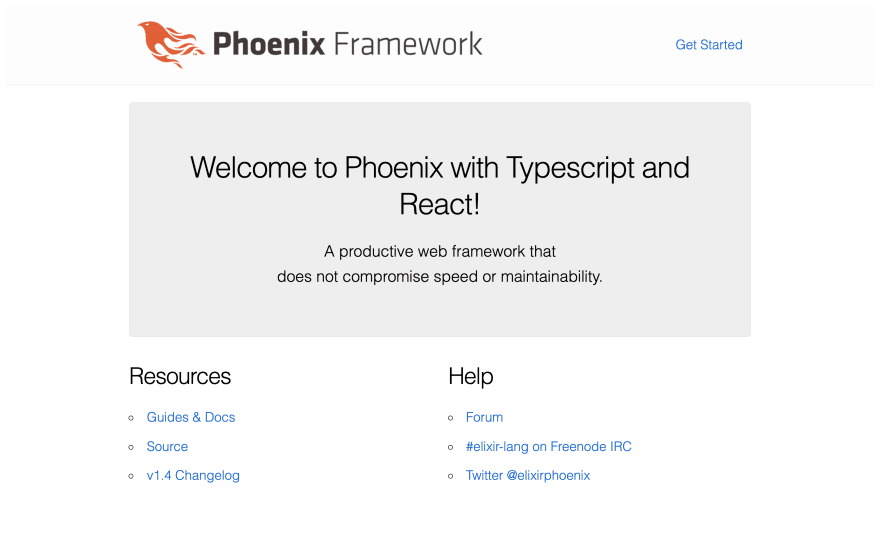 """Welcome to Phoenix with Typescript and React!"