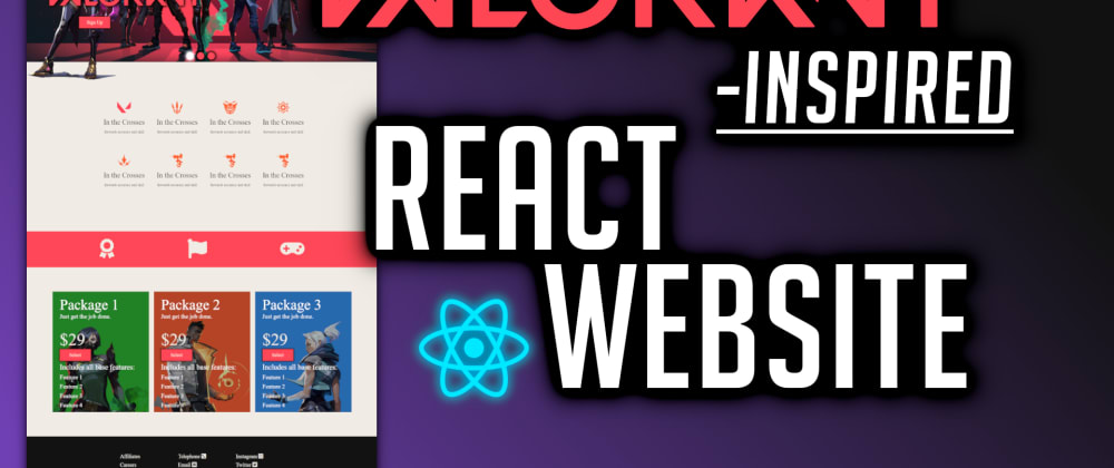 Cover image for Valorant-inspired React Website
